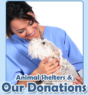Animal shelters and PetMeds® donations