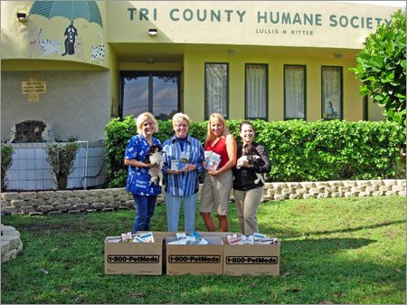 Tri County Humane Society receiving PetMeds donations