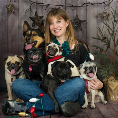 Robin, a founding board member of MAPR, and her dogs.