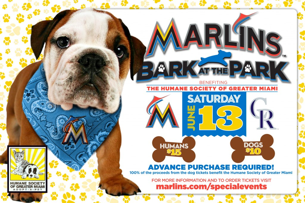 Miami Marlins Bark at the Park